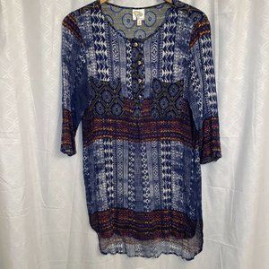 Anthropologie Fig and Flower Boho Print Rayon L